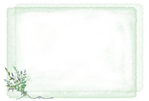 水彩風格天然草本明信片