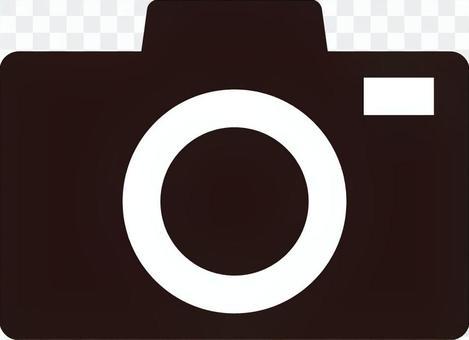 相機,單反,圖標,插圖