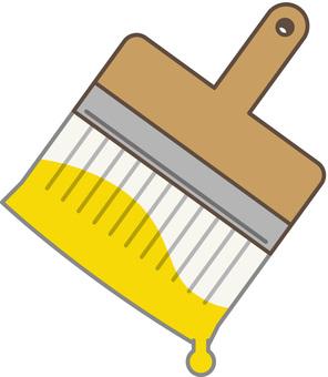 刷黃色顏料