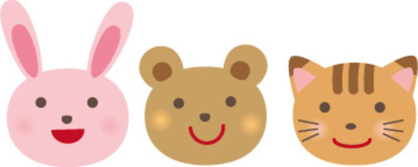 Usagi, Bear, Cat