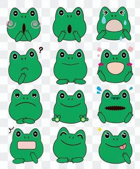 蛙-面部表情套裝