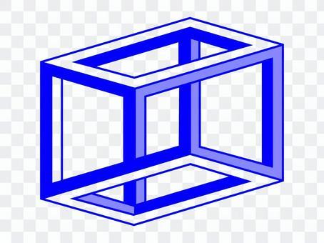 Graphic ESCHERS CUBE blue