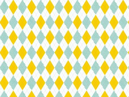 菱形●黄色×条纹绿色