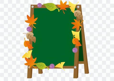 Cafe blackboard fashionable autumn