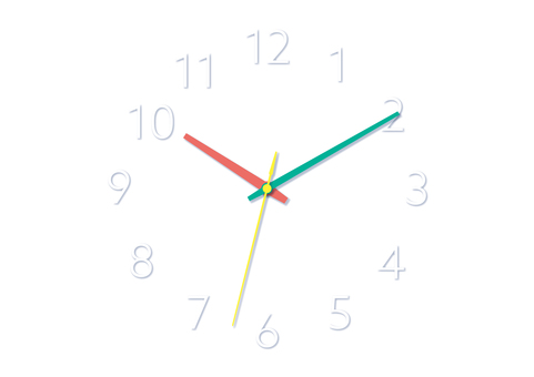 白色背景上的簡單時鐘壁紙
