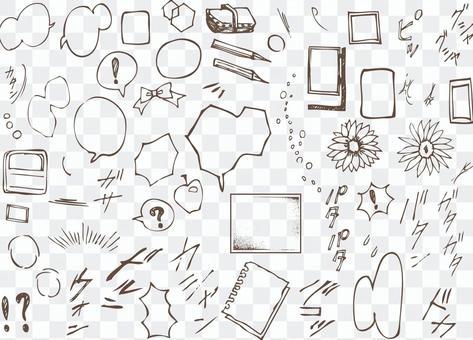 Cartoon expression onomatopoeic comic balloon drawing drawing
