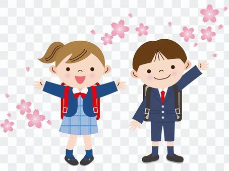 櫻花和入學儀式