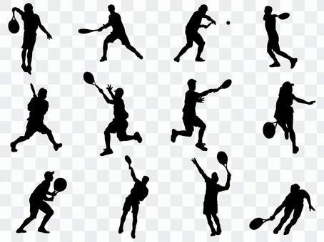 Tennis silhouette_set 1