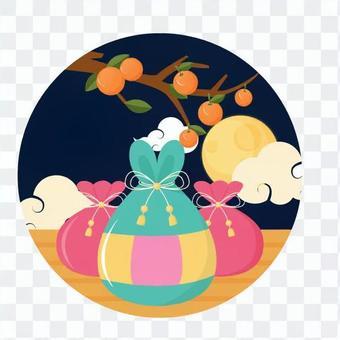 柿樹和滿月