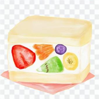 分厚いフルーツサンド