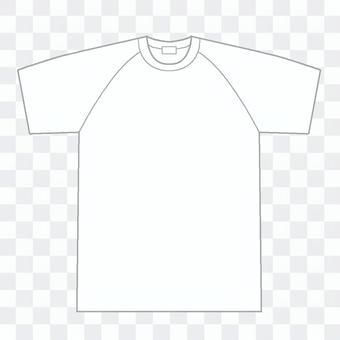 ラグラン袖白Tシャツ