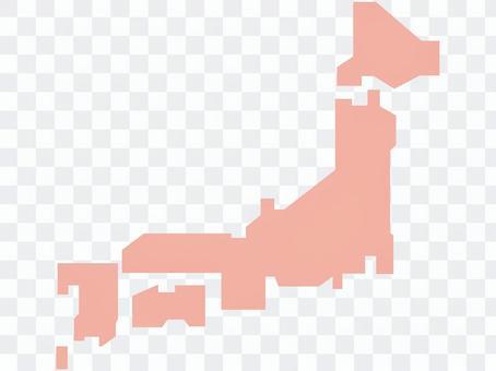 地圖粉紅色