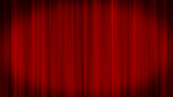 Spotlight and red stage curtain Full HD