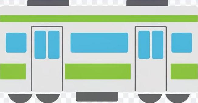 火車側身綠色