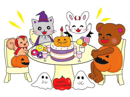 Halloween party colors for animals