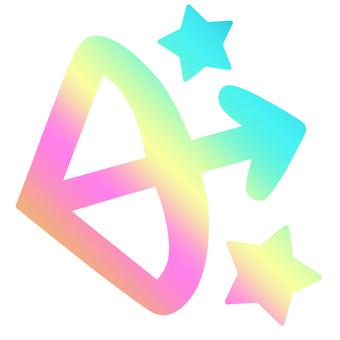 Iridescent gradient Sagittarius