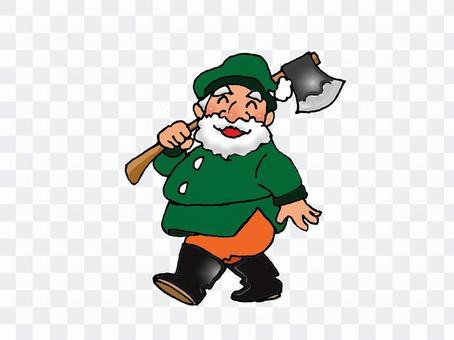 矮人的伐木工人