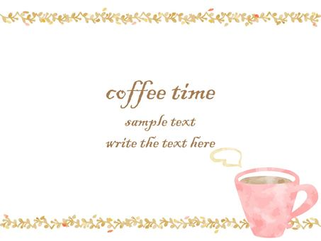 Simple and gentle watercolor coffee frame
