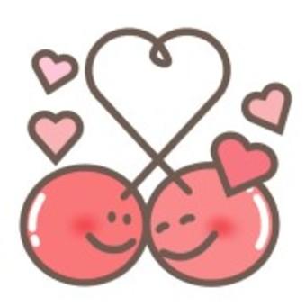 Cherry heart face smile smile