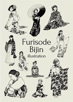 Furisode beauty illustration