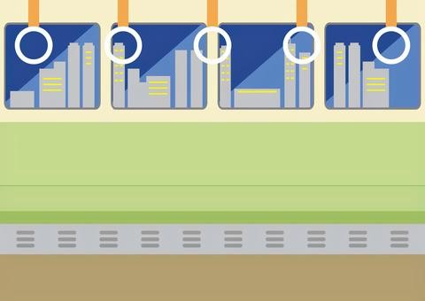電車内 夜景車窓
