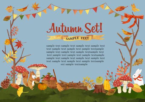Autumn material frame