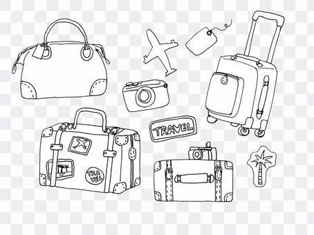 旅行插圖手繪