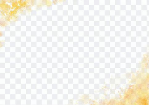 수채화 프레임 (노랑)