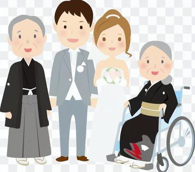 Bride and groom parents