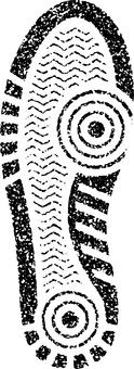 Stamp style footprint sneakers