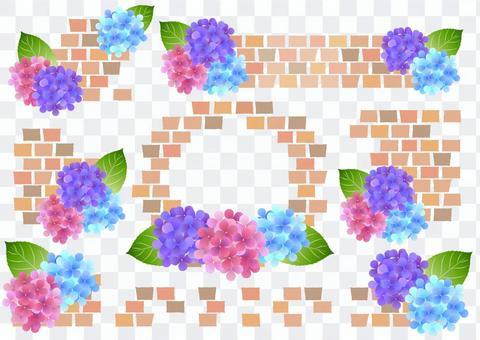 Regular version hydrangea and brick frameset