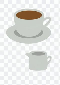 咖啡和牛奶(白)