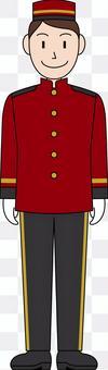 Vocational uniform hotel hotel man