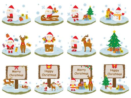 Cute Christmas hand-painted material set
