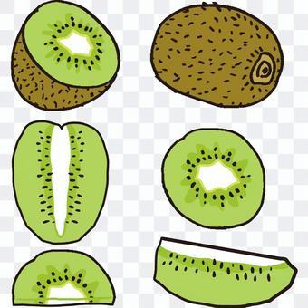 如何切獼猴桃綠