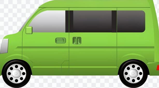 面包车(汽车)绿色