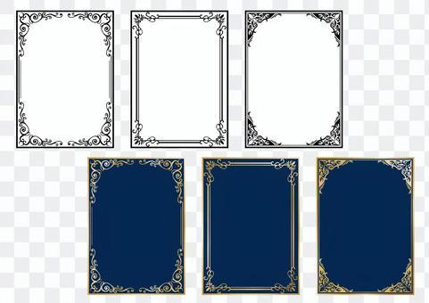 古董材料053別緻的框架