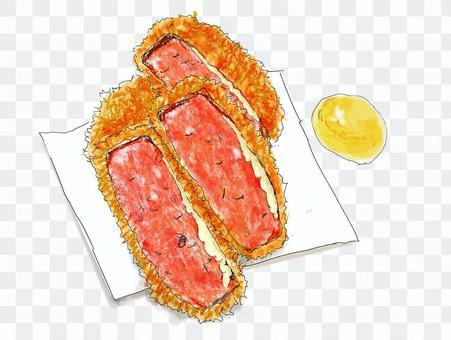 厚切ハムカツ(チーズ)