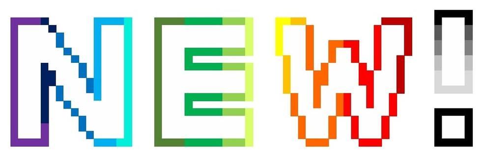 """""""NEW! Pixel art"""" icon"""