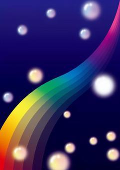 彩虹背景框架(彩虹在黑暗的夜晚消失)