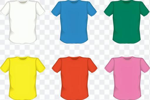 Tシャツ シャツ 肌着 無地 青 赤 黄