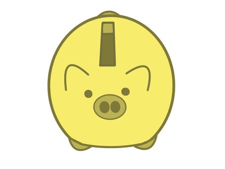 黃豬存錢罐圖