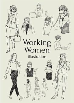 工作的女人圖
