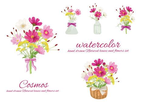 Watercolor autumn bouquet
