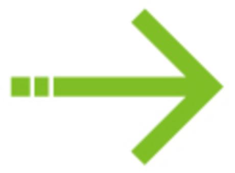 Single line arrow _ green