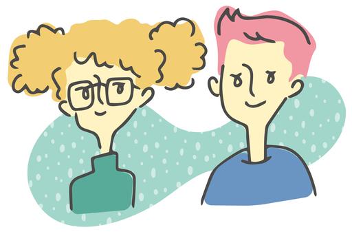 年輕男性和女性夫婦