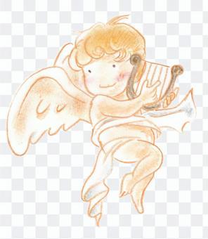 彈奏豎琴的天使