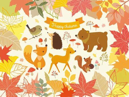 秋天的森林的例證匯集(4)
