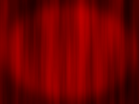 Red stage curtain / curtain 2 4: 3