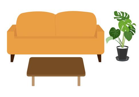 Living sofa orange